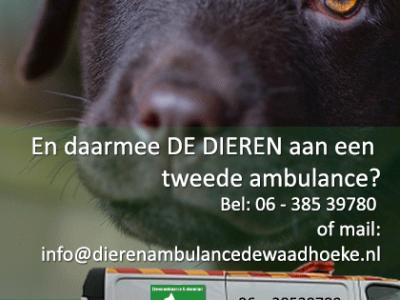 Dierenambulance De Waadhoeke wil graag 2e wagen.