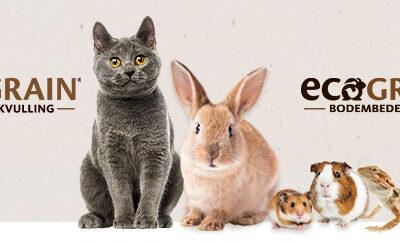 NIEUW: EcoGrain, dé milieuvriendelijke kattenbakvulling en bodembedekking voor uw huisdier!